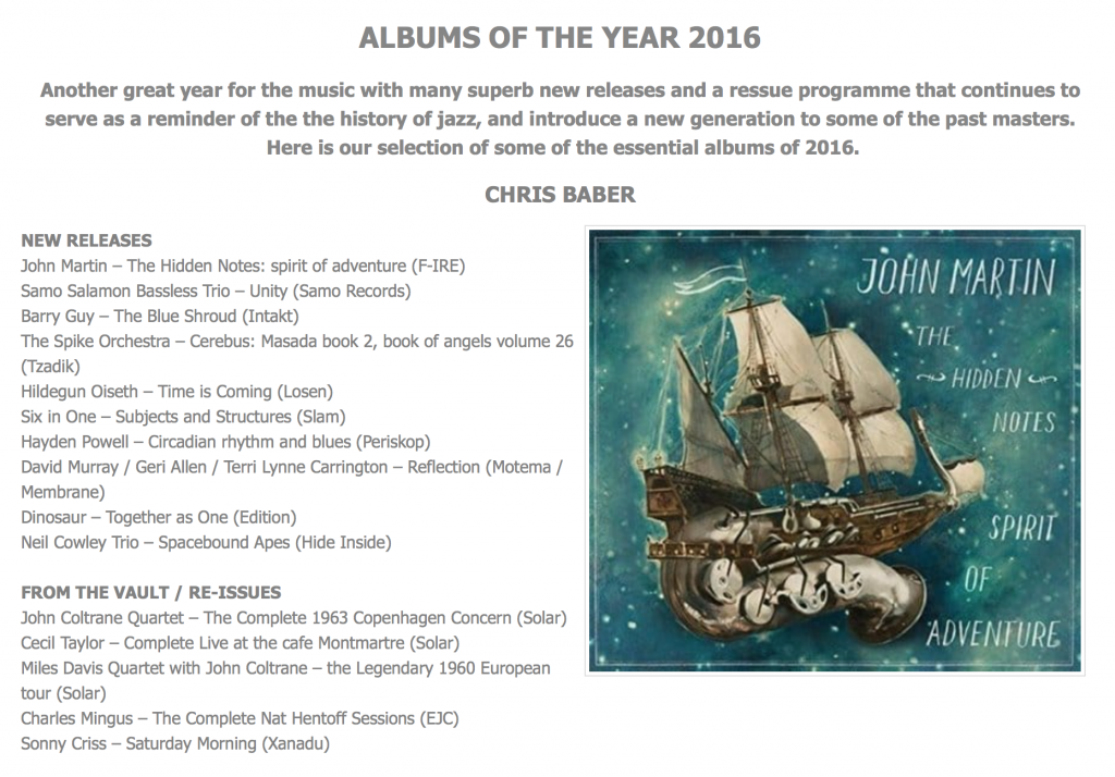 Best Jazz albums of 2016